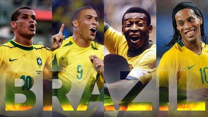 Bóng đá Brazil nổi tiếng với nhiều cái tên huyền thoại bóng đá