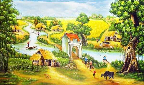 Hướng dẫn vẽ tranh đề tài phong cảnh quê hương cho các bạn học sinh